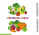 cartoon funny vegetable... | Shutterstock .eps vector #1008292495