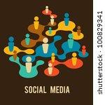 social media and network... | Shutterstock .eps vector #100829341
