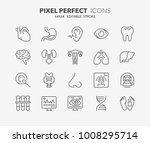 thin line icons set of hospital ... | Shutterstock .eps vector #1008295714