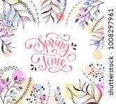 spring time vector. spring... | Shutterstock .eps vector #1008297961