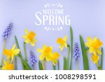 beutiful spring banner with...