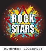 rock stars very bright grunge... | Shutterstock .eps vector #1008304375