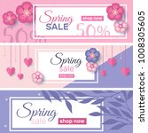 spring sale concept banners... | Shutterstock .eps vector #1008305605