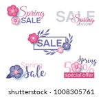 spring sale concept badges and... | Shutterstock .eps vector #1008305761