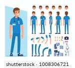 man doctor character... | Shutterstock .eps vector #1008306721