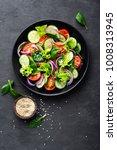 healthy vegetable salad of...   Shutterstock . vector #1008313945
