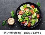healthy vegetable salad of... | Shutterstock . vector #1008313951