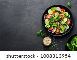 healthy vegetable salad of... | Shutterstock . vector #1008313954
