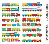 train toy children icons set.... | Shutterstock . vector #1008314881
