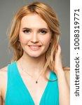 beautiful blonde girl. isolated ... | Shutterstock . vector #1008319771