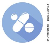 drugs and pills on blue... | Shutterstock .eps vector #1008320485