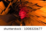 glowing tunnel from twisted... | Shutterstock . vector #1008320677