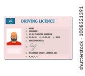 english driving license icon....   Shutterstock . vector #1008321391