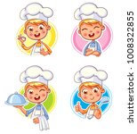collection happy smiling chef... | Shutterstock .eps vector #1008322855