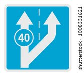forty on arrow icon. flat...   Shutterstock . vector #1008331621