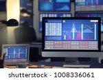 stock exchange trader's... | Shutterstock . vector #1008336061