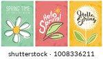 hello spring seasonal banners... | Shutterstock .eps vector #1008336211