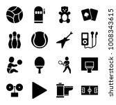 play icons. set of 16 editable... | Shutterstock .eps vector #1008343615