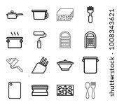 utensil icons. set of 16... | Shutterstock .eps vector #1008343621