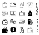 pay icons. set of 16 editable... | Shutterstock .eps vector #1008346375