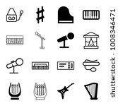 concert icons. set of 16... | Shutterstock .eps vector #1008346471