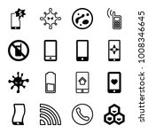 cell icons. set of 16 editable... | Shutterstock .eps vector #1008346645
