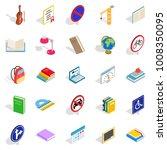 exam preparation icons set.... | Shutterstock .eps vector #1008350095