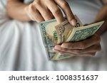 american dollars bank note in...   Shutterstock . vector #1008351637