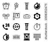 hour icons. set of 16 editable... | Shutterstock .eps vector #1008352675