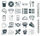 menu icons. set of 25 editable... | Shutterstock .eps vector #1008352711