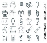 soft icons. set of 25 editable... | Shutterstock .eps vector #1008353611