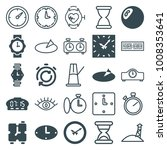 watch icons. set of 25 editable ... | Shutterstock .eps vector #1008353641