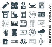 electronic icons. set of 25... | Shutterstock .eps vector #1008353809