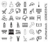 work icons. set of 36 editable... | Shutterstock .eps vector #1008355471