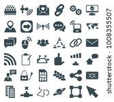 communication icons. set of 36... | Shutterstock .eps vector #1008355507