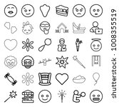 happy icons. set of 36 editable ... | Shutterstock .eps vector #1008355519