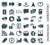 web icons. set of 36 editable... | Shutterstock .eps vector #1008355567