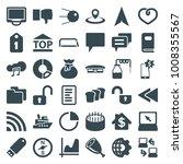 web icons. set of 36 editable...   Shutterstock .eps vector #1008355567