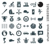 sport icons. set of 36 editable ... | Shutterstock .eps vector #1008355651