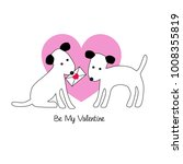 cute dogs valentine vector... | Shutterstock .eps vector #1008355819