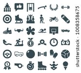 sport icons. set of 36 editable ... | Shutterstock .eps vector #1008358675
