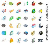 logistic icons set. isometric... | Shutterstock .eps vector #1008360175