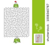 frogs maze game with answer | Shutterstock .eps vector #1008360787