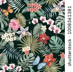tropical seamless pattern with... | Shutterstock .eps vector #1008361381