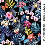 tropical seamless pattern with... | Shutterstock .eps vector #1008362221
