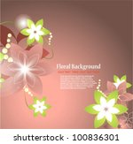 stylish floral background | Shutterstock .eps vector #100836301
