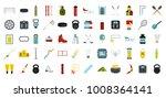 sport equipment icon set. flat...   Shutterstock .eps vector #1008364141