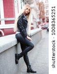 beautiful young woman walking... | Shutterstock . vector #1008365251