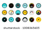 dash board icon set. flat set... | Shutterstock .eps vector #1008365605