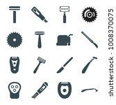 cutter icons. set of 16... | Shutterstock .eps vector #1008370075